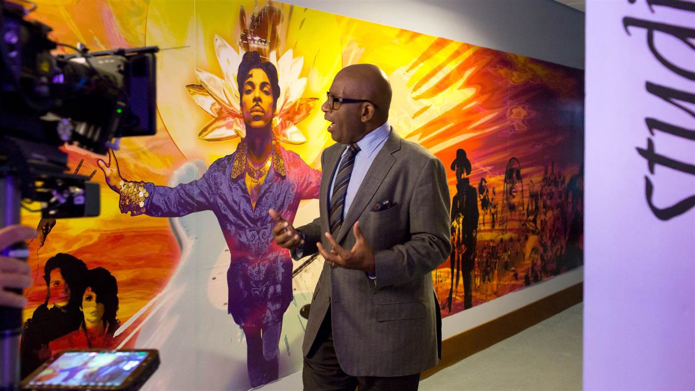 Al Roker tours Prince's Paisley Park Studios for the Today Show, October 6, 2016.