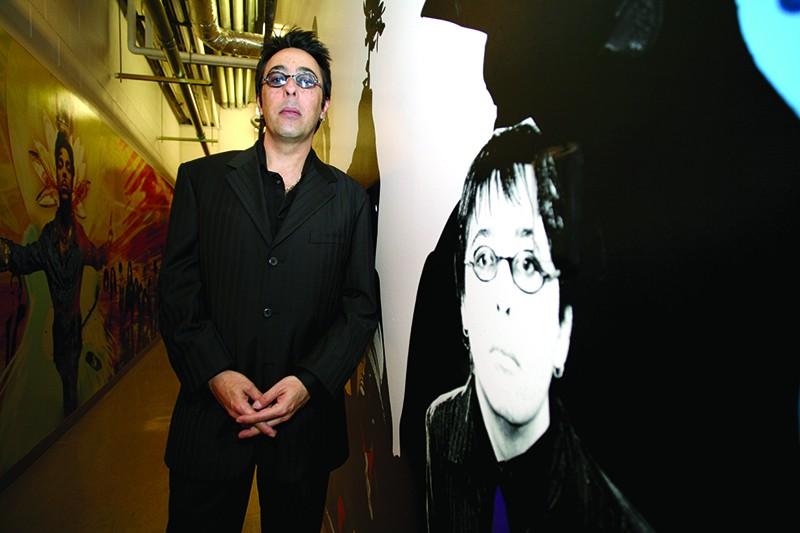 Renato Neto standing in the backstage corridor at the Rio in Vegas, 2006