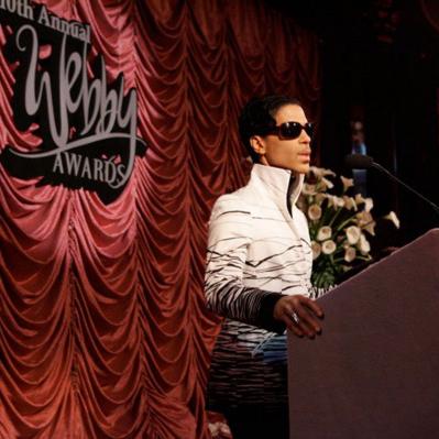 Prince wins the Webby Lifetime Achievement Award